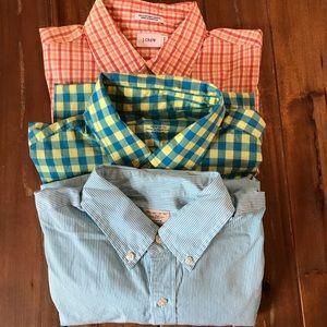 Bundle of 3 J. Crew Button down shirts